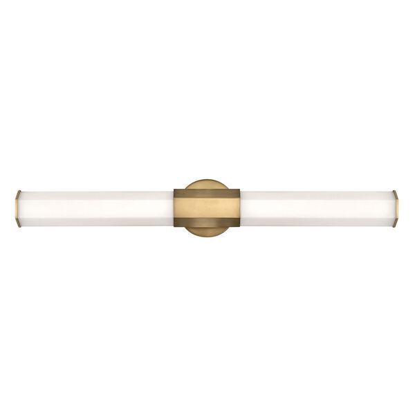 Facet Heritage Brass 32-Inch LED ADA Bath Sconce, image 1