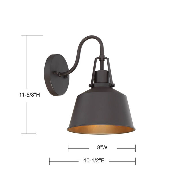 Lex Oil Rubbed Bronze Eight-Inch One-Light Outdoor Wall Sconce, image 5