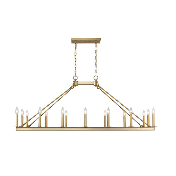 Barclay Olde Brass 16-Light Island Chandelier, image 4
