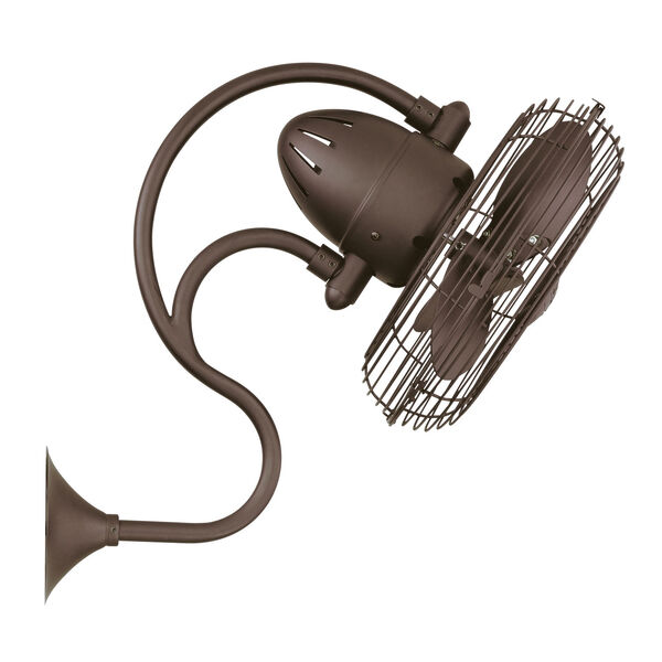 Melody Textured Bronze Oscillating Wall Mounted Fan, image 3