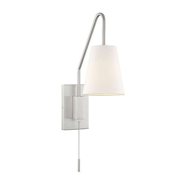 Owen Satin Nickel One-Light Sconce, image 1