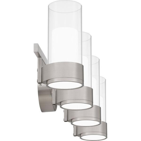 Logan Brushed Nickel Four-Light LED Bath Vanity, image 4