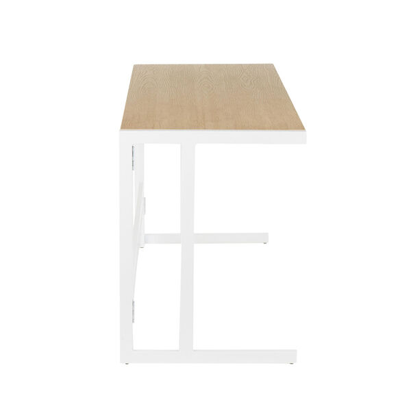 Roman White and Natural 45-Inch office Desk, image 2