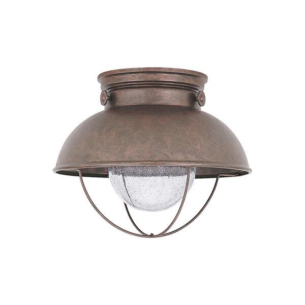 Sebring Weathered Copper 11-Inch LED Outdoor Flush Mount, image 1