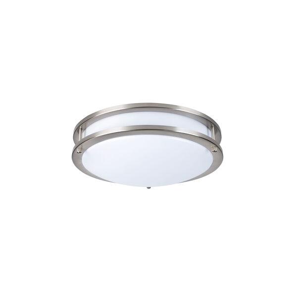 Ripple Brushed Nickel 14-Inch 3000K LED Flush Mount, image 1