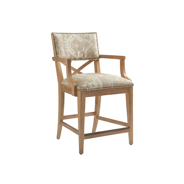 Los Altos Gold and Gray Sutherland Upholstered Counter Stool, image 1