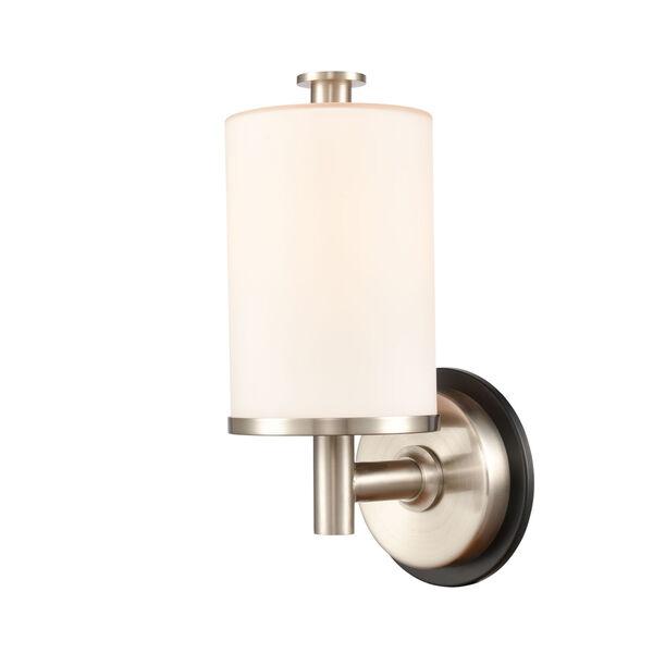 Marlowe Matte Black Satin Nickel LED Bath Vanity, image 1