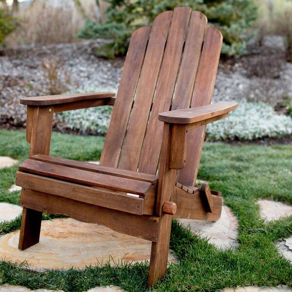 Acacia Adirondack Chair - Dark Brown, image 1