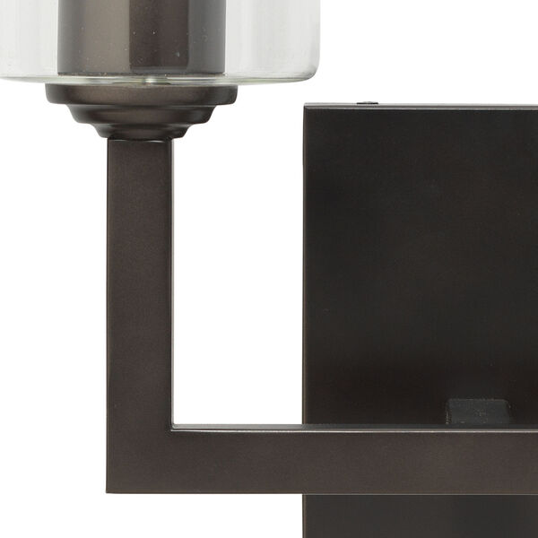 Linear Oil Rubbed Bronze Two-Light Wall Sconce, image 5