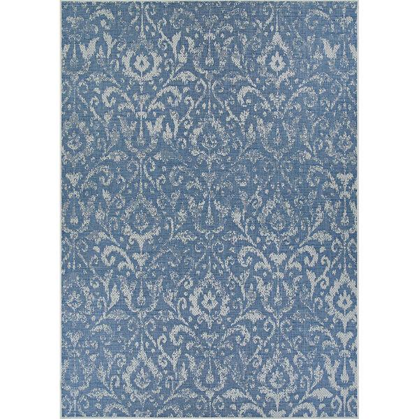 Marseille St. Marcel Blue Rectangular: 3 Ft. 9 In. x 5 Ft. 5 In. Indoor/Outdoor Rug, image 1