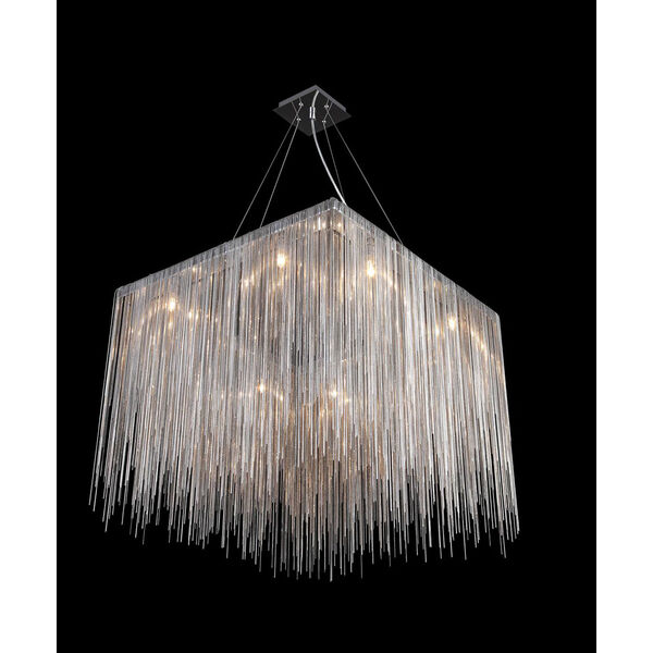 Fountain Blvd. Chrome 24-Inch Eight-Light Square Chandelier, image 2