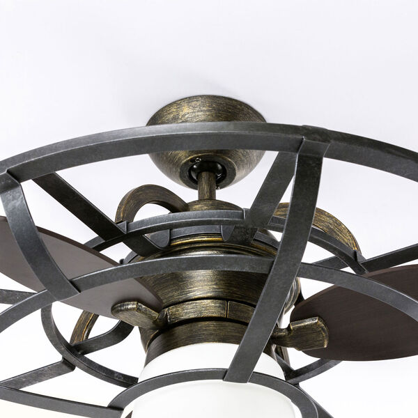 River Station Reclaimed Wood and Iron One-Light Fan, image 3