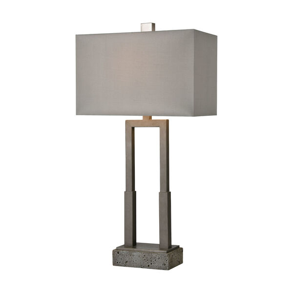 Courier Pewter and Rough Concrete One-Light Table Lamp, image 1