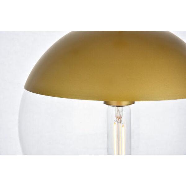 Eclipse Brass One-Light Plug-In Pendant, image 4
