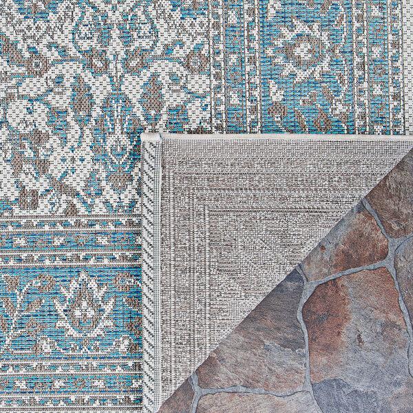 Marseille Carmoux Azure Rectangular: 5 Ft. 10 In. x 9 Ft. 2 In. Indoor/Outdoor Rug, image 2
