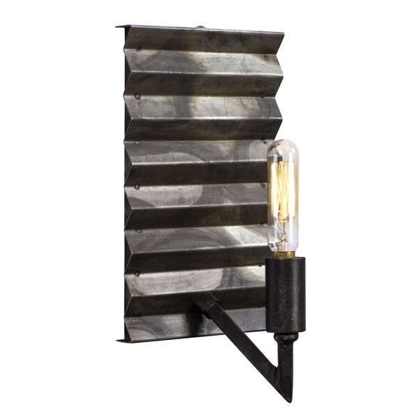 Flynne Ombre Galvanized One-Light Sconce, image 3