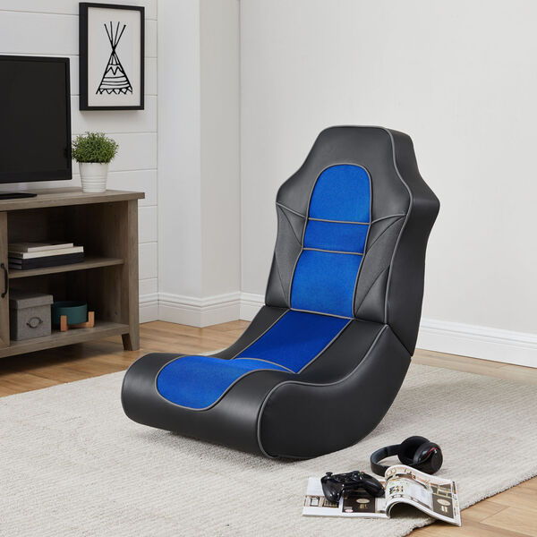 Noah Black and Blue Game Rocking Chair, image 2