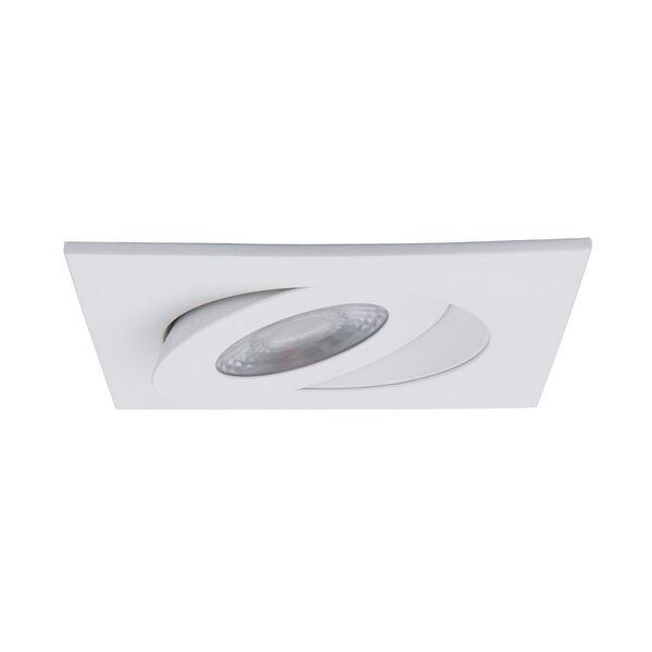 Lotos White LED Square Recessed Light Kit, image 3