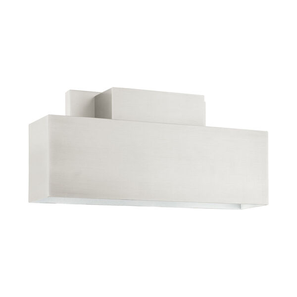 Lynx Brushed Nickel Two-Light Outdoor ADA Wall Sconce, image 2