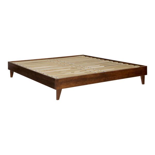 Walnut King Platform Bed, image 2