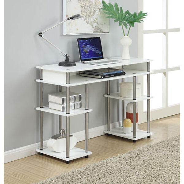 Newport White Computer Desk, image 1