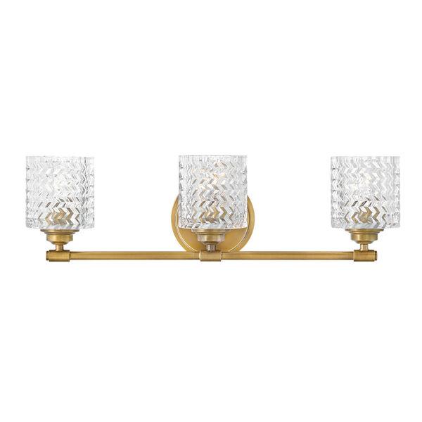 Elle Heritage Brass Three-Light Bath Vanity, image 1
