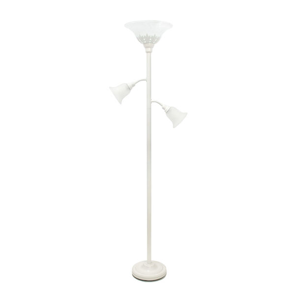 Quince White Three-Light Floor Lamp, image 1