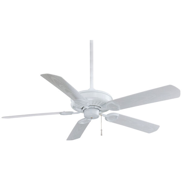 Sundowner White  54-Inch Ceiling Fan, image 1