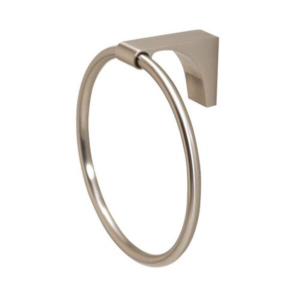 Luna Satin Nickel Towel Ring, image 1