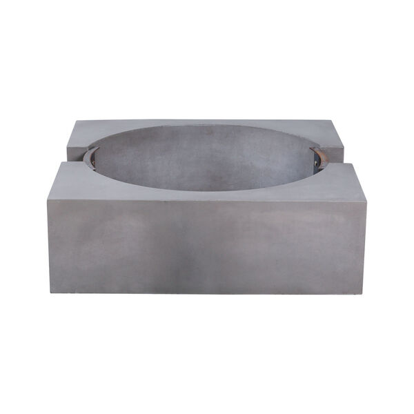 Volcano Polished Concrete Outdoor Fire Pit, image 6