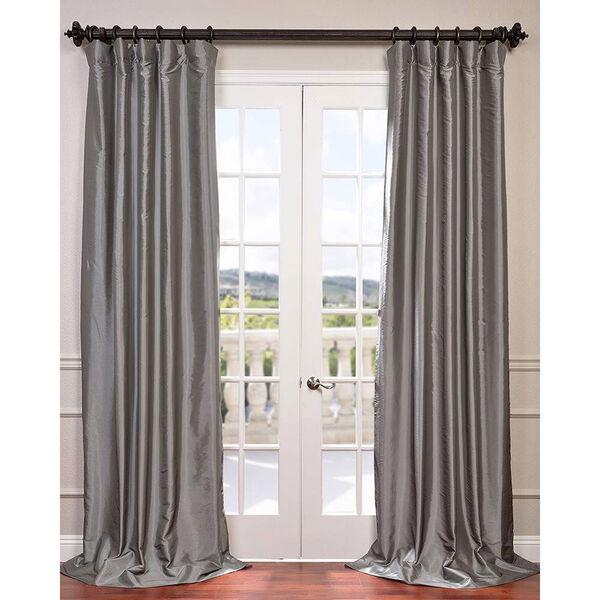 Platinum 120 x 50-Inch Blackout Faux Silk Taffeta Curtain Single Panel, image 1