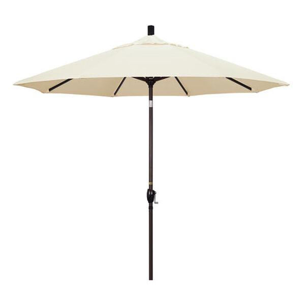 9 Foot Umbrella Aluminum Market Push Tilt - Bronze/Sunbrella/Canvas, image 1