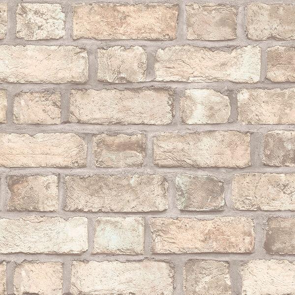 Farmhouse Brick Brown Wallpaper, image 1