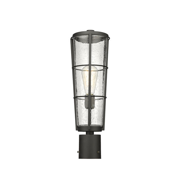 Helix Black 20-Inch One-Light Outdoor Post Mount, image 3