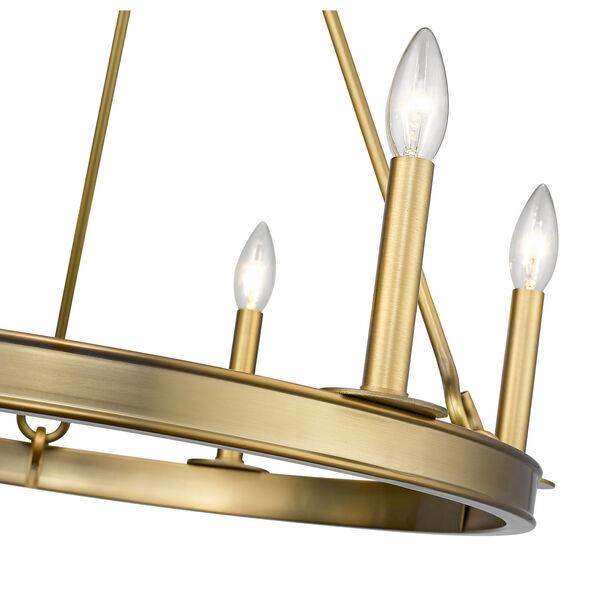 Barclay Olde Brass Six-Light Chandelier, image 6