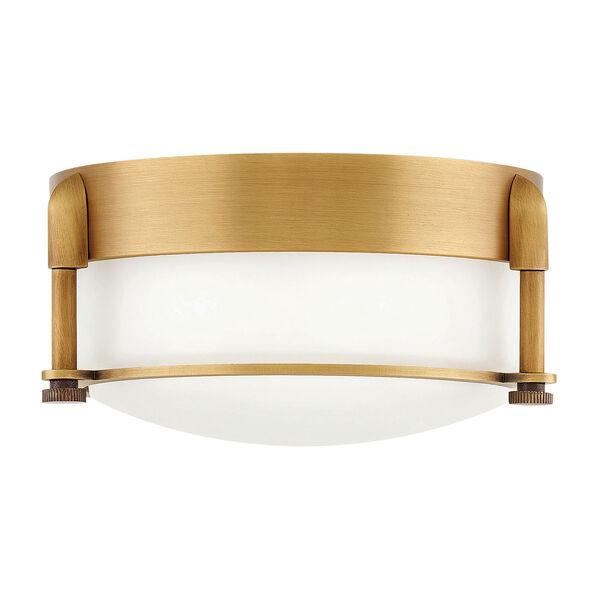 Colbin Heritage Brass LED Flush Mount, image 1