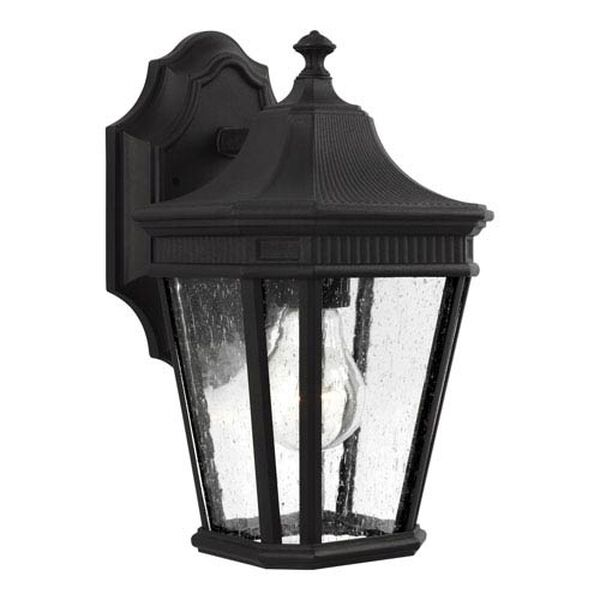 Castle Black 7-Inch One-Light Outdoor Wall Lantern, image 1