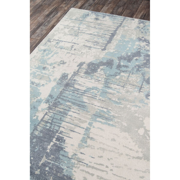 Illusions Abstract Blue Rectangular: 3 Ft. 6 In. x 5 Ft. 6 In. Rug, image 2