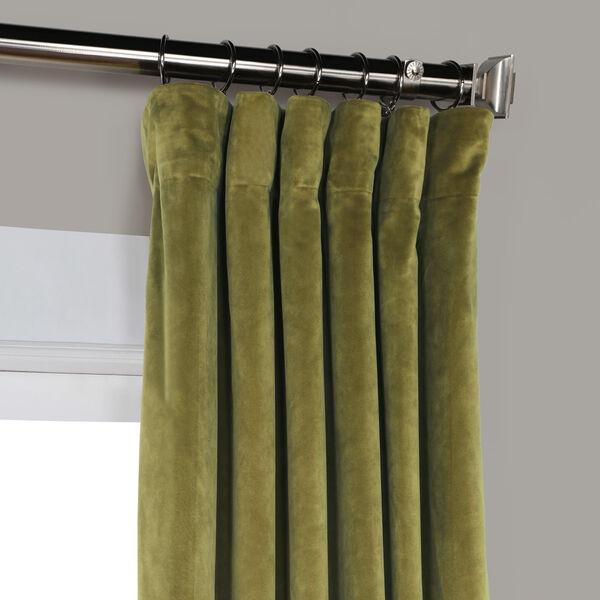Green 84 x 50 In. Plush Velvet Curtain Single Panel, image 7