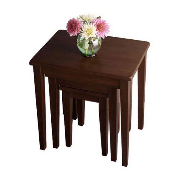 Walnut Nesting Tables, Set of Three, image 1