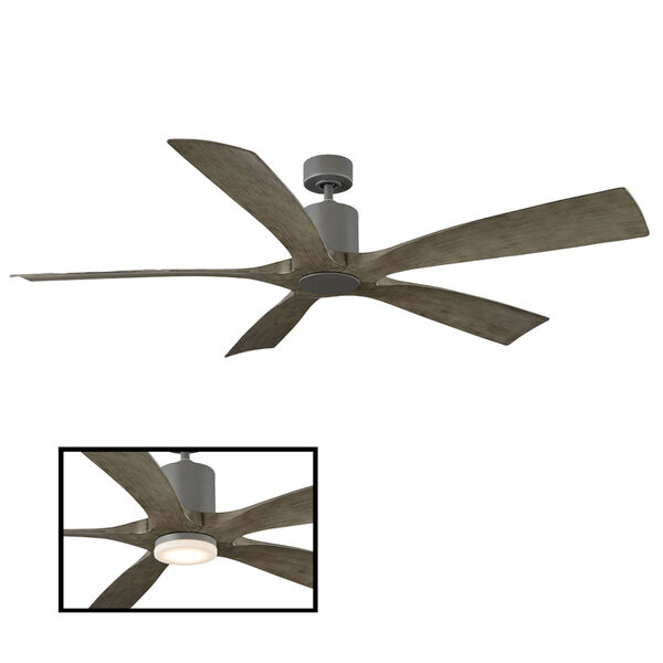 Aviator Graphite and Weathered Gray 70-Inch ADA LED Ceiling Fan, image 3