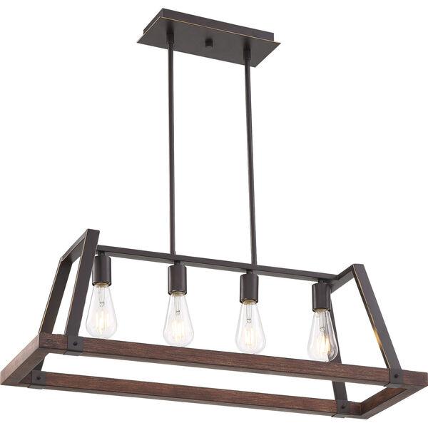 Outrigger Bronze Four-Light Pendant, image 1