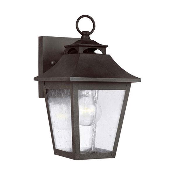 Sutton Black 10-Inch One-Light Outdoor Wall Lantern, image 2
