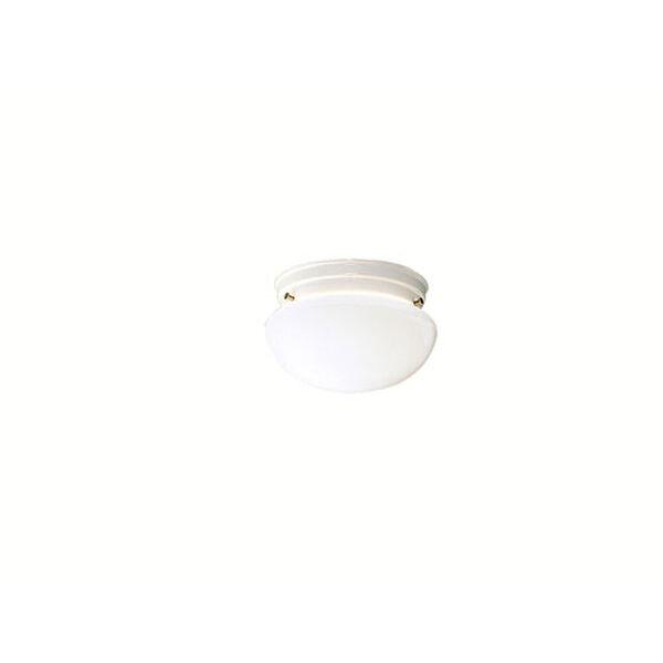 White Flush Mount Ceiling Light, image 1