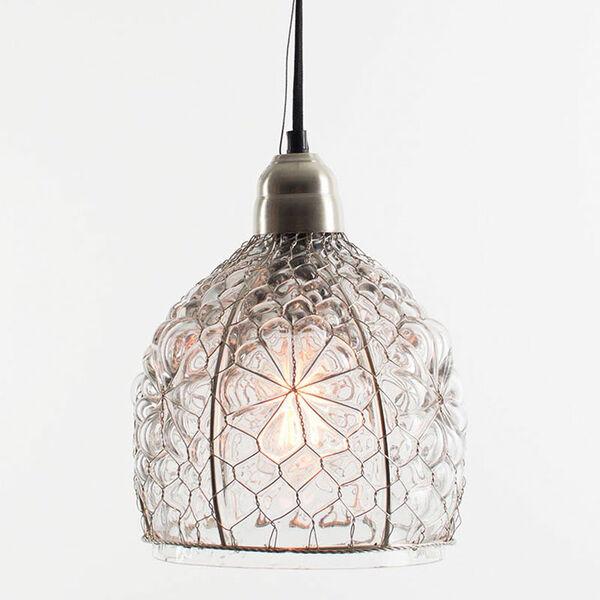 Electric Mini Pendant w/ Eight-Inch Diameter Glass shade, image 1
