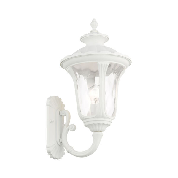 Oxford Textured White 10-Inch One-Light Outdoor Wall Lantern, image 4
