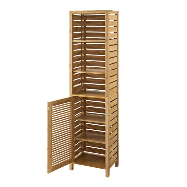 Navaeh Natural Bamboo Bathroom Tall Cabinet, image 2