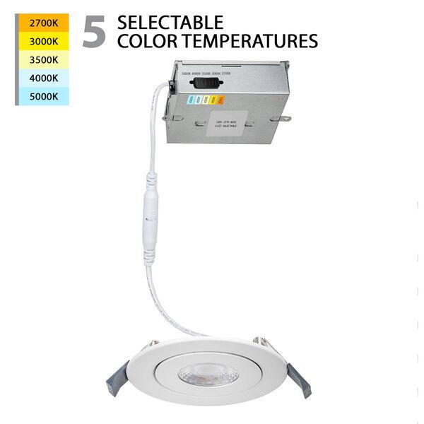 Lotos White Six-Inch LED Round Adjustable Recessed Light Kit, image 2