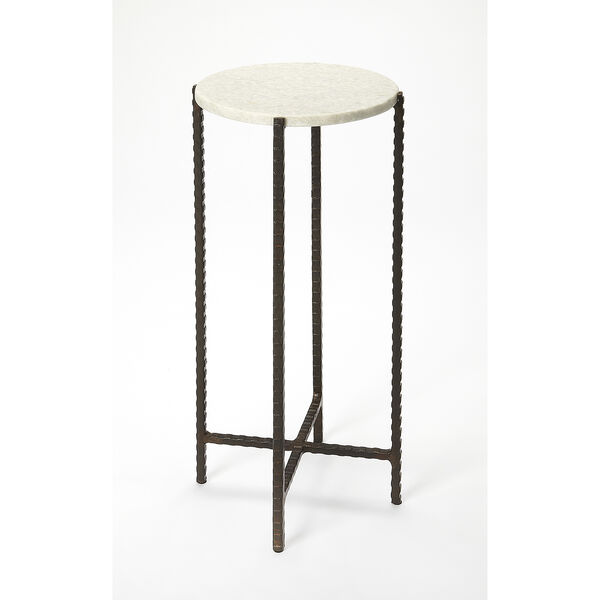 Butler Loft Marble and Metal Nigella Round Accent Table, image 1