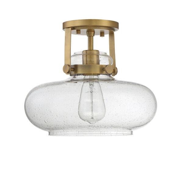 Howe Natural Brass One-Light Semi-Flush Mount, image 2